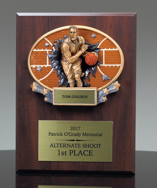 Picture of Xplosion Basketball Plaque Award