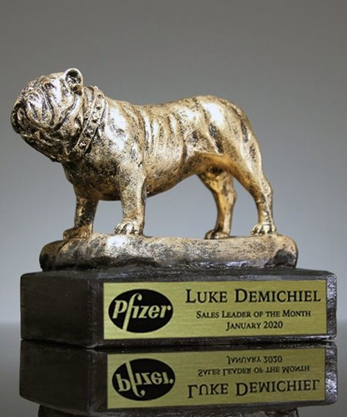 Picture of Standing Bulldog Award