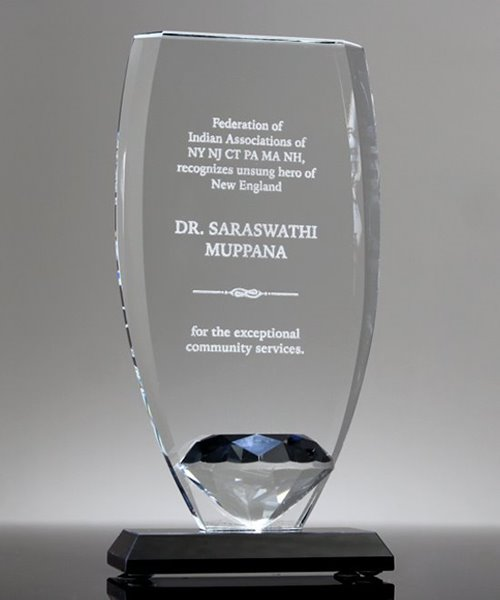 Picture of Diamond Shield Glass Award