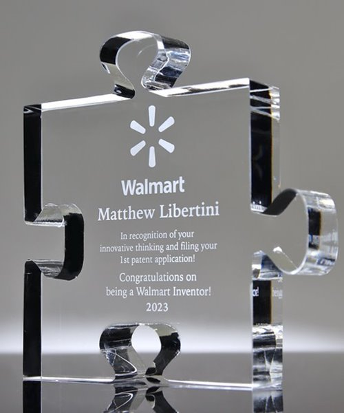 Picture of Puzzle Piece Crystal Award