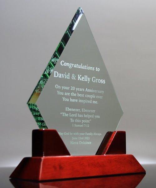 Picture of Religious Crystal Diamond Award