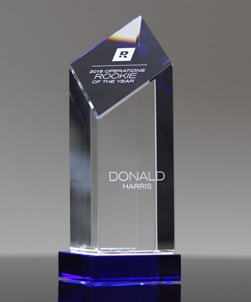Picture of Encore Tower Blue Crystal Award
