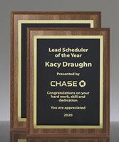 Picture of Traditional Walnut Finish Award Plaque