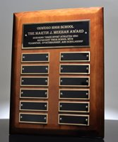 Picture of High Gloss Walnut Perpetual Name Plaque