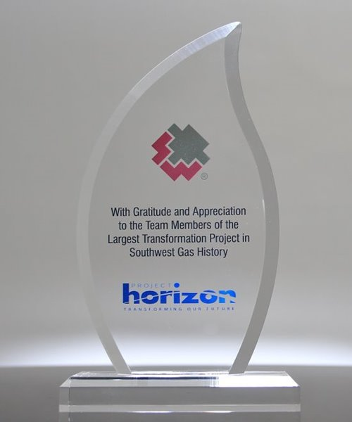 Picture of Full Color Inspiration Flame Acrylic Award