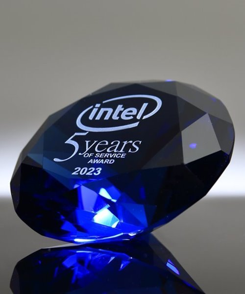 Picture of Blue Crystal Diamond Paperweight