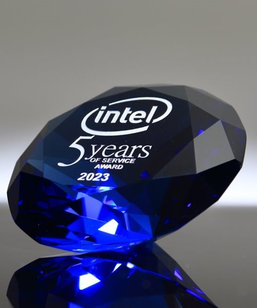 Picture of Blue Diamond Award With Silver Highlight
