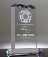 Picture of Crystal Service Award Plaque