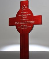 Picture of Rosewood Cross Plaque