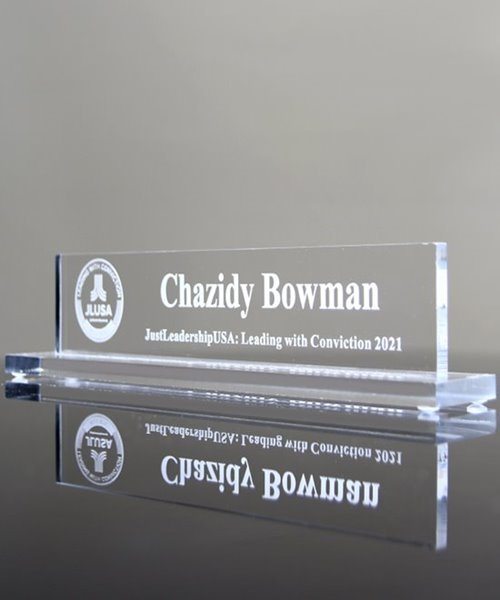 Picture of Acrylic Desk Name Block