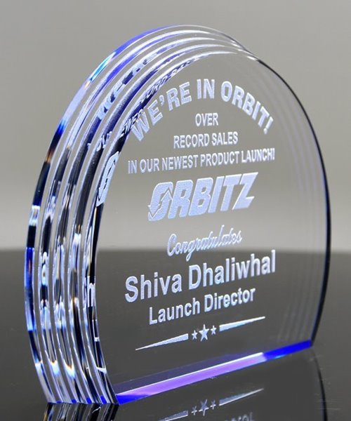 Picture of Azure Moon Acrylic Award