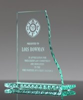 Picture of Pearl Edge Glass Wave Award