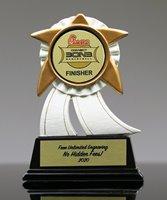 Picture of White Ribbon Custom Insert Award